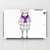 ferret iPad Cases featuring ferret in sweater by margaw