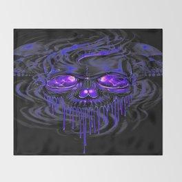 Purple Nurpel Skeletons Throw Blanket