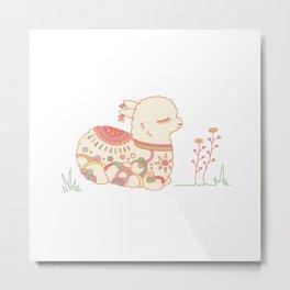 Baby Llama Metal Print