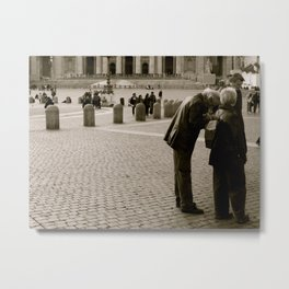 Tourists in Black and White  Metal Print
