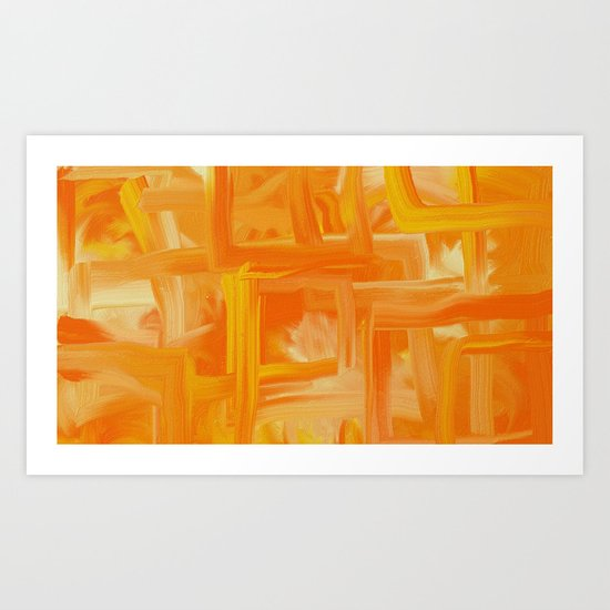 Orange passion! Art Print