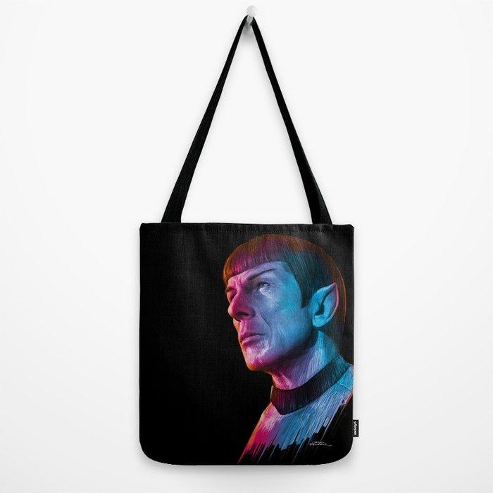 "Homage to Leonard Nimoy - Mr. Spock ""Star Trek"" (colored version) Tote Bag"