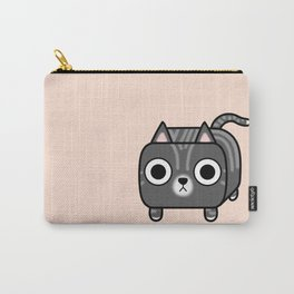 Cat Loaf - Grey Tabby Kitty Carry-All Pouch