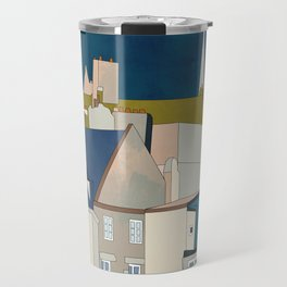 france houses abstract art Travel Mug