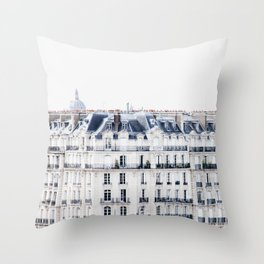 Bonjour Paris - Architecture and Travel Photography Throw Pillow