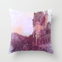 castle Throw Pillows featuring Castle by Nechifor Ionut