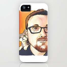 Behind every good man… is a kitten! iPhone Case
