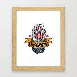 Toe Beans Framed Art Print
