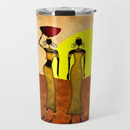 Africa retro vintage style design illustration Travel Mug