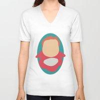 ponyo V-neck T-shirts featuring Ponyo by Polvo