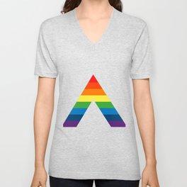 LGBT ALLY Rainbow Gay Pride Flag Unisex V-Neck