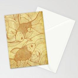 Vintage Goldfishes  Stationery Cards