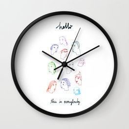 Hello, this is everybody Wall Clock