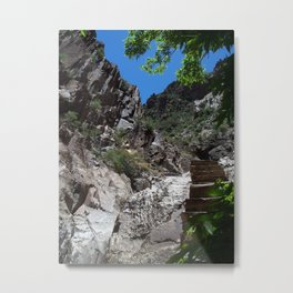 Steps From the Window Hike in Big Bend Metal Print