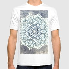 Fancy Boho Mandala White Mens Fitted Tee MEDIUM