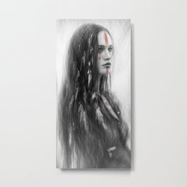 War Feathers Metal Print