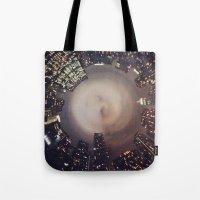 manhattan Tote Bags featuring Manhattan by Michelle Wenz