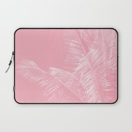 Millennial Pink illumination of Heart White Tropical Palm Hawaii Laptop Sleeve