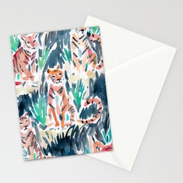 Sitting Tigers Stationery Cards
