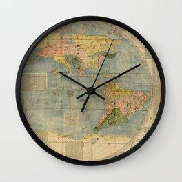 Matteo Ricci - Kunyu Wanguo Quantu / A Map of the Myriad Countries of the World - Americas (1602) Wall Clock