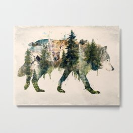 Wolf is the Pride of Nature Metal Print