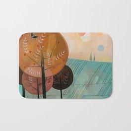 Trees & Birds Bath Mat