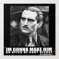 the godfather Canvas Prints featuring Godfather by Org Mag