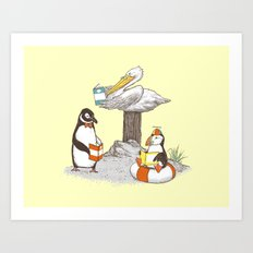 Birds of Literacy Art Print