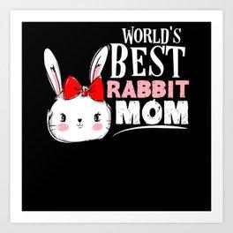 Bunny Love Of Animals Art Print