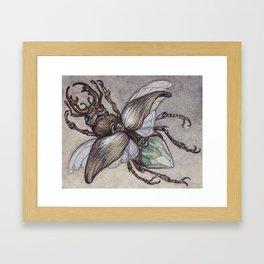 Crystal Beetle Framed Art Print