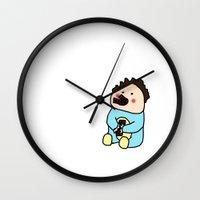 chocolate Wall Clocks featuring Chocolate by Anna Ilina