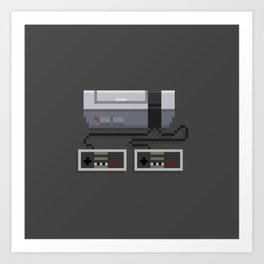 NES 8-Bit Console Art Print