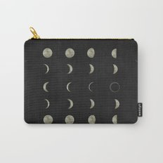 Moon Phases, Black White Decor, Bohemian, Magic, Lunar Cycle Carry-All Pouch