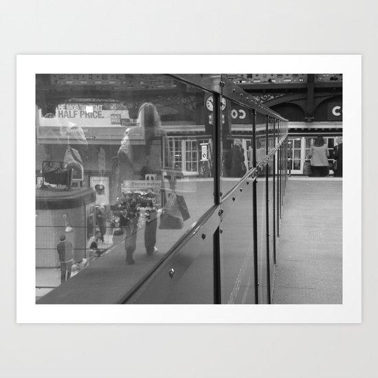 Reflections on a Footbridge #27 Art Print