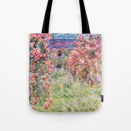 "Claude Monet ""House among the Roses"", 1917 - 1919 Tote Bag"