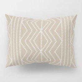 Cream Linen Beige Arrows Pattern Pillow Sham