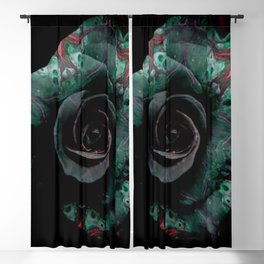 Dark Rose - Abstract Floral Photography by Fluid Nature Blackout Curtain