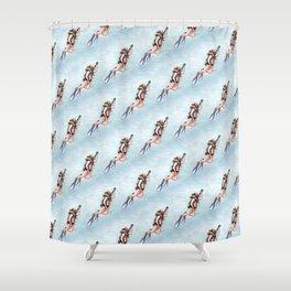Dillon Surfacing (pattern) Shower Curtain