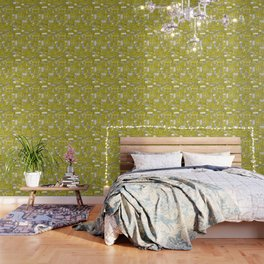fiendish incisions chartreuse Wallpaper