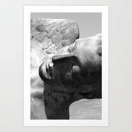 Pompeii Italy Bronze Angel Statue  Art Print