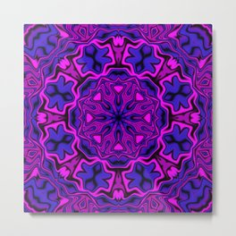 Pink and Purple Kaleidoscope 4 Metal Print