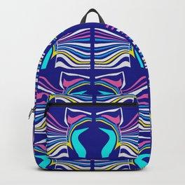 Radio Waves Blue Backpack