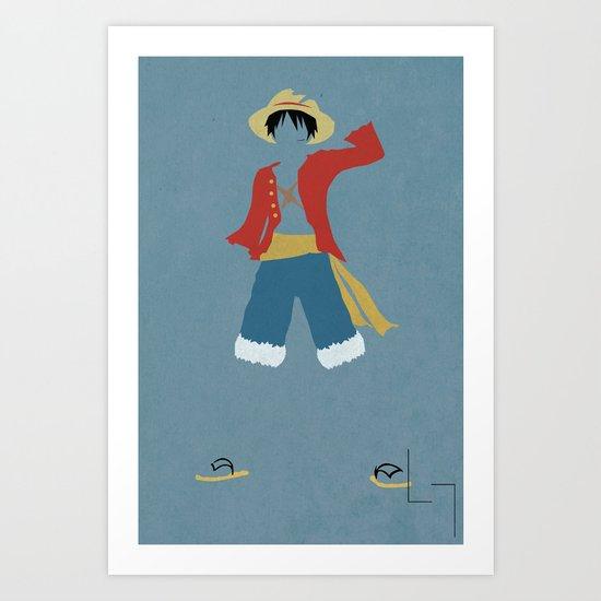 Monkey D Luffy Art Print