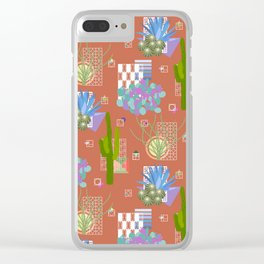 Modernism Desert Landscape Clear iPhone Case