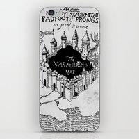 marauders iPhone & iPod Skins featuring Marauders Map by bimorecreative