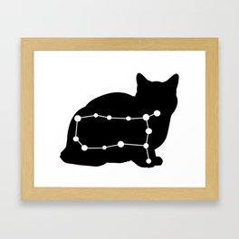 gemini cat Framed Art Print