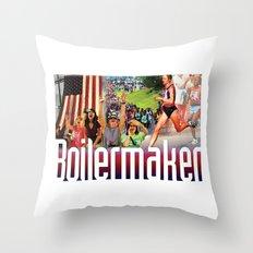 Boilermaker Road Race Throw Pillow