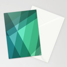 Fig. 046 Mint, Sea Green, Blue & Teal Geometric Stationery Cards