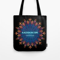 book cover Tote Bags featuring Kaleidoscope Art Book Cover by Sam Skyler
