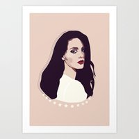 lana Art Prints featuring Lana by Anna McKay